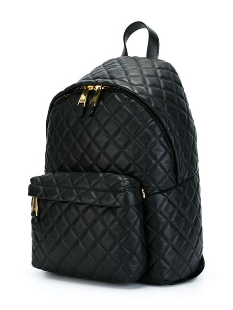 Black Quilted Backpack by Moschino Quilted Backpack In Black Lyst