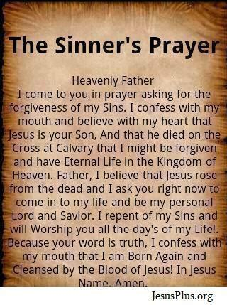 The Sinner Also Search For The Sinners Prayer Spirit