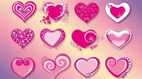 love heart pink 1600x900 hd wallpaper love wallpapers download wallpaper 1600x900 many love hearts pink red