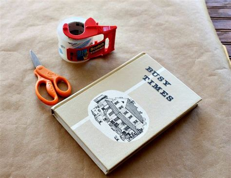 How To Make Paper Bag Book Covers - frugal friday how to make a book cover simplify live
