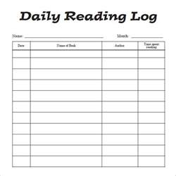 book reading log template reading log template 9 free pdf doc