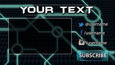 tron gaming youtube outro template free download outro
