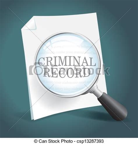 Look At My Criminal Record Eps Vectors Of Reviewing A Criminal Record Taking A