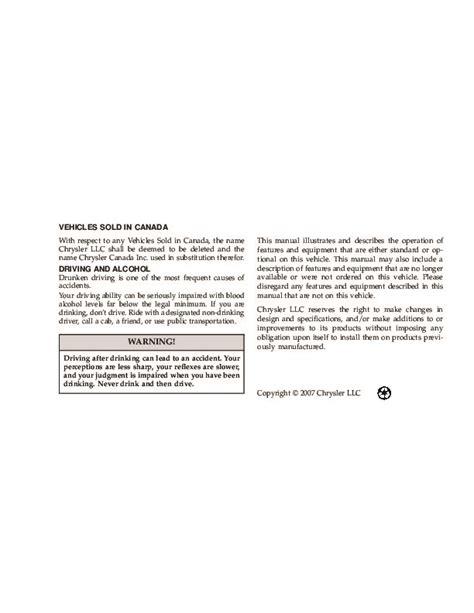 2008 Chrysler Sebring Manual by 2008 Chrysler Sebring Sedan Owners Manual