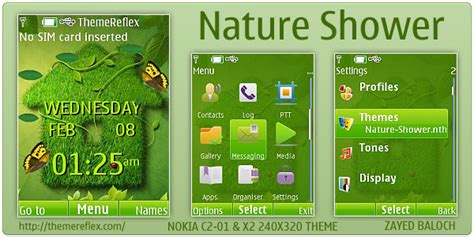 nokia x2 nature themes nature shower theme for nokia x2 c2 01 240 215 320
