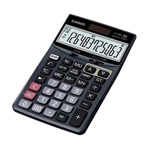 Casio Dj 120d Kalkulator Meja casio calculators dj 120d plus business calculator