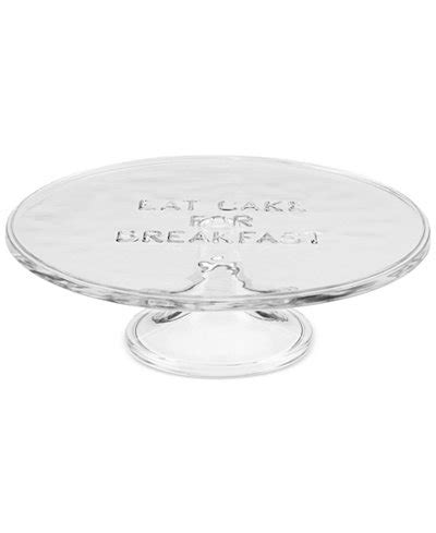 kate spade table l kate spade york all in taste 10 quot glass cake plate