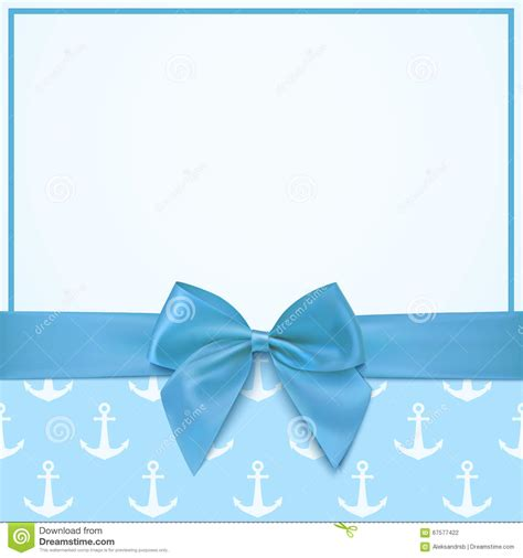 baby boy card template blank greeting card template for a boy stock vector