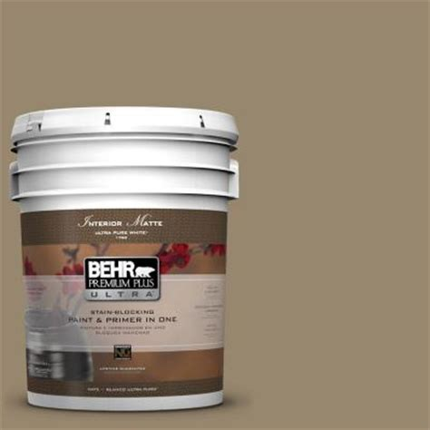 behr premium plus ultra 5 gal 710d 5 mississippi mud flat matte interior paint 175305 the