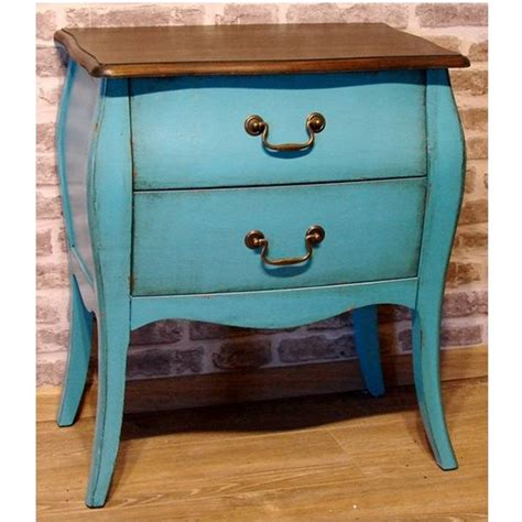 commode turquoise mellow commode 2 tiroirs turquoise meuble vintage