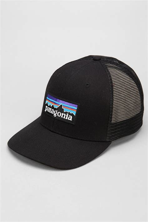 Trucker Hat Or Patagonia lyst patagonia trucker hat in black for