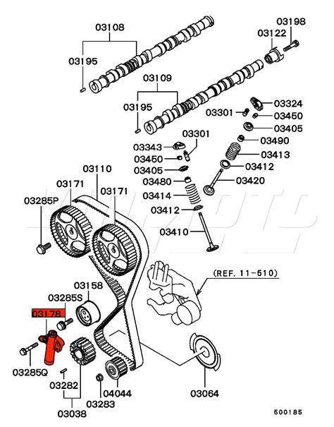 mitsubishi parts diagrams viamoto mitsubishi car parts hydraulic cambelt tensioner