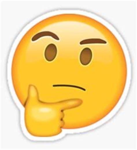 imagenes emoji pensando pensando emoji pegatinas redbubble