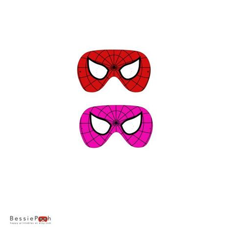 printable girl mask printable spiderman and spidergirl mask instant by