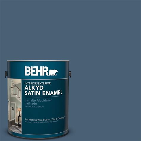 behr 1 gal n450 7 astronomical satin enamel alkyd interior exterior paint 793001 the home depot
