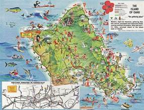 tourist attractions map maps oahu tourist map