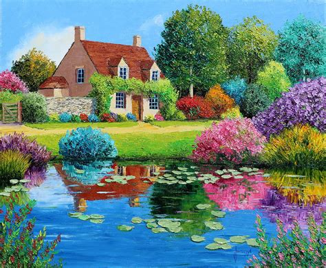 the cottage painting the cottage painting by jean marc janiaczyk