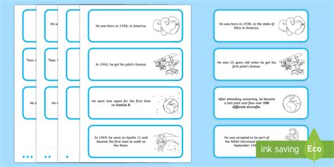 fact card template ks1 neil armstrong differentiated sorting cards important