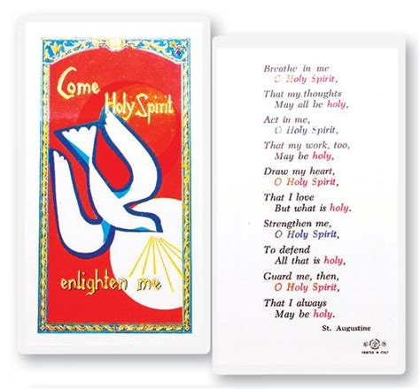 Laminated Prayer Cards Templates by Confirmation Holy Spirit Breath Laminated Prayer Cards 25 Pack