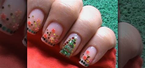 how to christmas tree nail design 171 nails manicure
