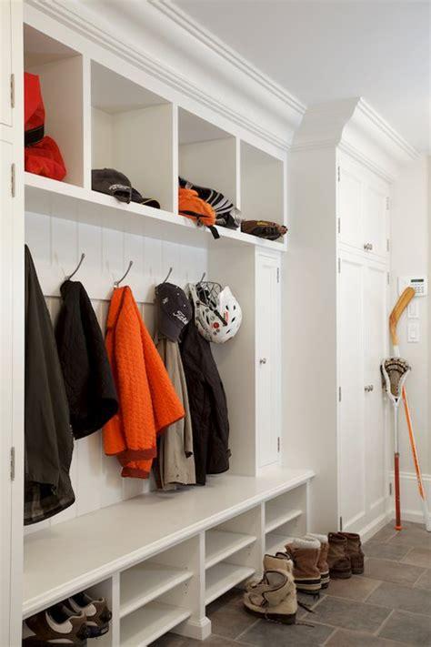mudroom shelves kids cubbies contemporary basement melanie morris design