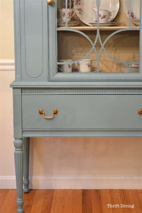 painted china cabinet before and after before after my thrifted china cabinet makeover