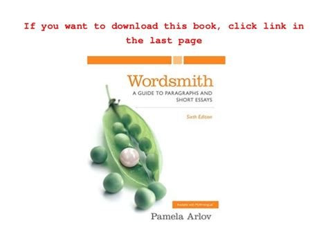 Wordsmith A Guide To Paragraphs And Essays Ebook by Read Wordsmith A Guide To Paragraphs And Essays 6th Edition