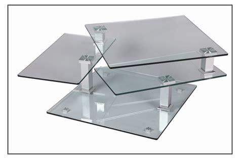 table basse design carr 233 e en verre extensible cbc meubles