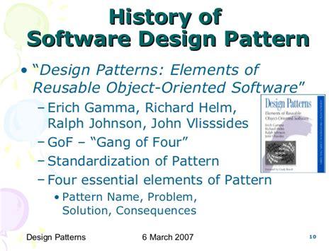 design patterns gamma helm johnson cs6201 software reuse design patterns