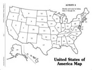 Numbered united states of america map printables
