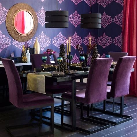 purple dining rooms dramatic and moody purple dining room dine in style