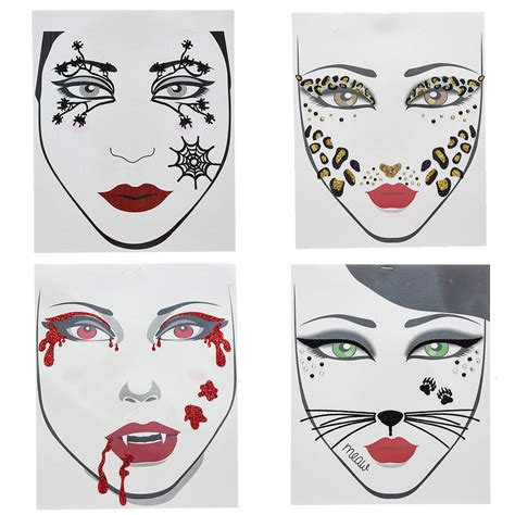 temporary face tattoos halloween temporary tattoos for popsugar