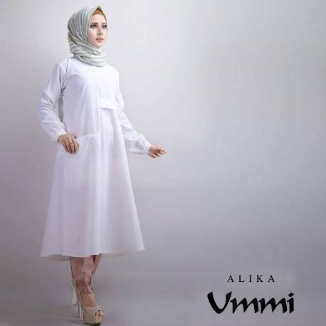 New Alika Tunik 2 new alika white baju muslim gamis modern