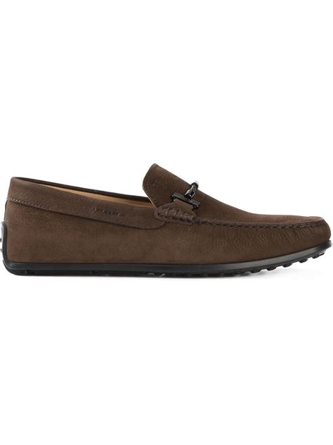 tods loafers tod s gommino loafers in brown for lyst
