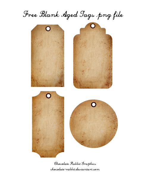 tags for free aged tags png freebie by chocolate rabbit on deviantart