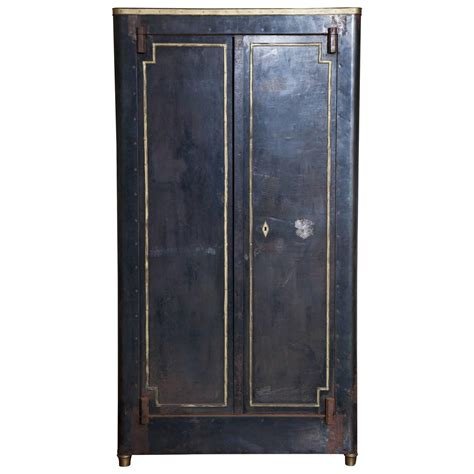 accents and armoires blackened metal armoire with bronze accents for sale at
