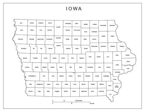 printable map iowa iowa labeled map