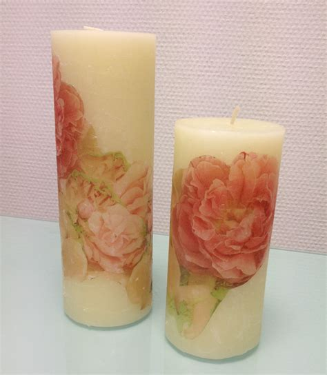 Decoupage Candles - decoupage on a candle
