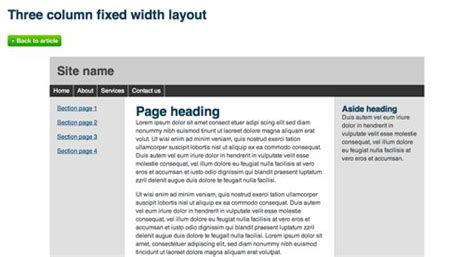 simple layout design in css 715 awesomely simple and free css layouts design shack