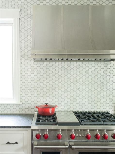 cool backsplash 36 eye catchy hexagon tile ideas for kitchens digsdigs