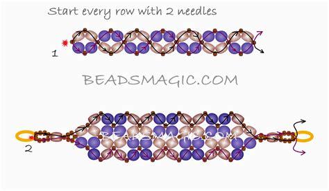 free beaded bracelet patterns free pattern for beaded bracelet classic magic