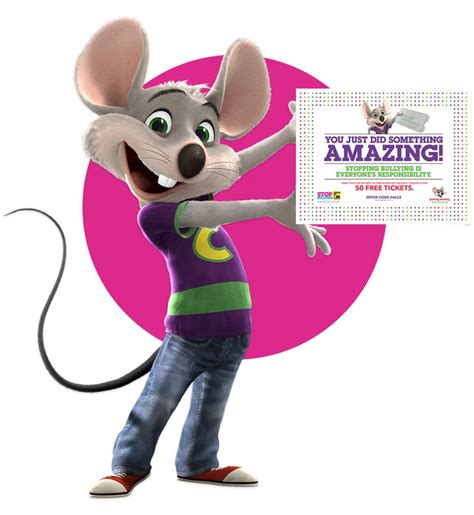 Where Can I Buy Chuck E Cheese Gift Cards - chuck e cheese s 50 free tickets when your kids sign the anti bullying pledge