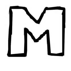 Zig Zag M Letter Coloring Pages  sketch template