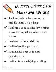 template for narrative writing success criteria for narrative writing 3rd 7th grade