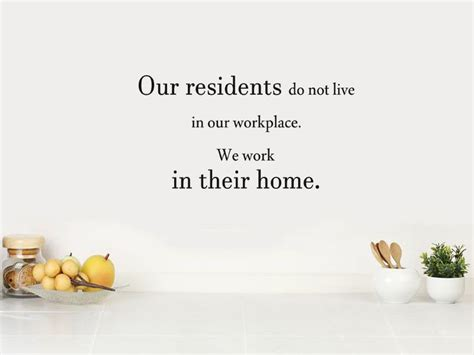 their home care home wall quote our residents wall art sticker
