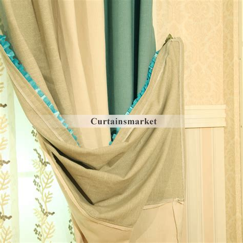 good quality curtains natural cotton and linen blended good quality curtains