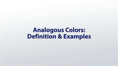 definition of analogous colors analogous colors definition exles lesson
