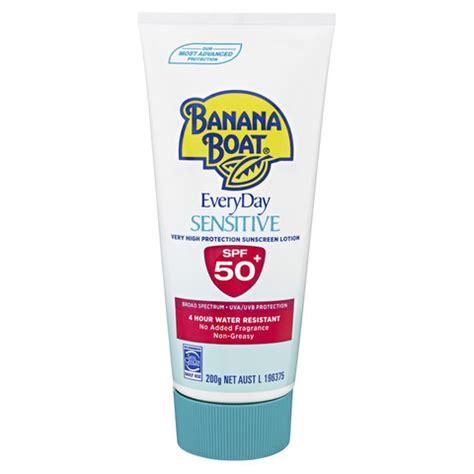banana boat sensitive ingredients banana boat 200g everyday sensitive sunscreen lotion kmart