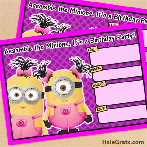 printable minion stationery free printable despicable me girl minion birthday
