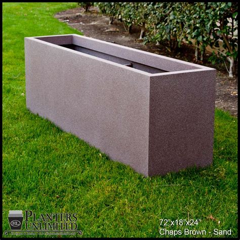 modern rectangle planter 72in l x 36in w x 36in h